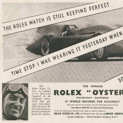 Rolex Oyster Land Speed Record