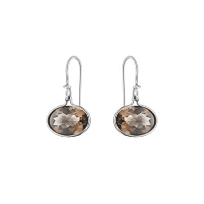 10003043 Savannah Earhook 628 A Silver Smokey Quartz Jpg Max 3000X3000 402684