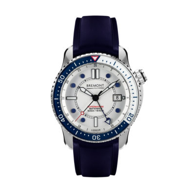 Bremont Waterman Front Blue Ti Wbg
