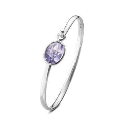 Savannah Amethyst Bangle