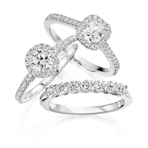 Halo Ring Pair Et